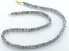 Unbehandelte Echtschmuck-Halsketten & -Anhänger aus Sterlingsilber Labradorit