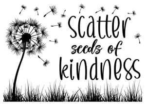 Magnolia Design Reusable Adhesive Silkscreen Stencil SCATTER SEEDS OF KINDNESS