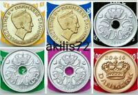 Lote Coronas DINAMARCA 2016 6 MONEDAS S/C 2016 SET DENMARK  CROWNS 6 coins UNC