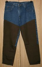 Wrangler Heavy Duty Faced Denim Field Brushgard Hunting Blue and Brown Pants