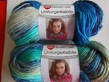 Red Heart Boutique Unforgettable yarn, Regata, lot of 2 (270 yds each)