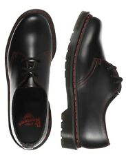 New Dr. Martens Men's 1461 Rs Black Smooth Red Stitch Leather Shoes 25829001