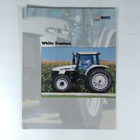 White Tractor Advertising Brochure Agco Farming Agriculture Equipment
