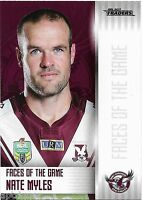 2017 NRL Traders Faces of the Game (FOTG 18/48) Nate MYLES Sea Eagles