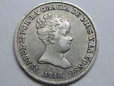 1848 MADRID 1 REAL SPAIN ISABEL II PLATA SPANISH PLATA SILVER