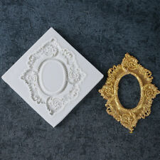 Vintage Style Mirror Frame Shape Silicone Cake Mould Fondant Sugarcraft Mold DIY
