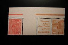 Berlin postfrisch Mi.Nr. SZ5 geprüft 20 und 4 Pf. Bauten-Rand-Zusammendruck 1952