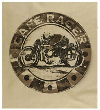 Men's Cafe Racer Motorcycle Generous Sizing heavy Cotton Free Fast UK Delivery