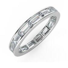 1.00 Channel Set Baguette Cut Full eternity Diamond Ring in White Gold