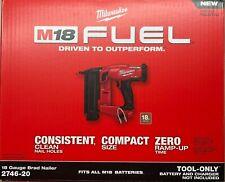 Milwaukee 2746-20 18 Gage 18 volt Cordless Brad Nailer Nail Gun (bare tool)