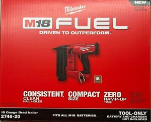 Milwaukee 2746-20 18 Gage 18 volt Cordless Brad Nailer Nail Gun (bare tool)