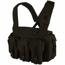 Condor CR Tactical Chest Rig Vest w/ 7 Pocket Rifle Magazine Pouches Black