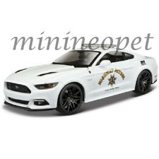 MAISTO 32514 2015 FORD MUSTANG GT HIGHWAY PATROL POLICE CAR 1/24 DIECAST WHITE