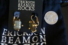 Lily Antique Gold Lever Back Earrings New W.Pouch Erickson Beamon Rocks Gilded