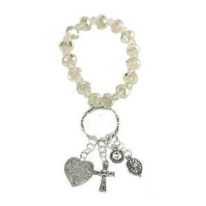 Alexa's Angels Key Ring Bracelet #32092 Sand, Free Shipping!