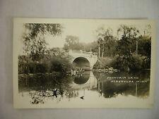 Vintage Real Photo Postcard Bridge At Fountain Lake Albert Lea Minnesota Unused