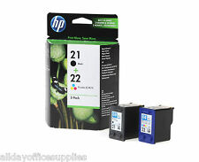Genuine HP 21 Black & Hp 22 Colour Ink Cartridge  Deskjet F2280 Printer VAT INC