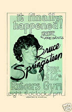 The Boss: Bruce Springsteen at Rutgers University Concert Poster Circa 1976