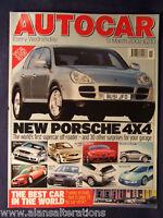 AUTOCAR Magazine 13th March 2002 Porsche Cayenne