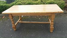 Vintage Very Large Solid Country Pine Farmhouse Kitchen / Dining Table Heavy
