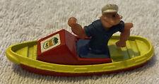 Vintage 1980 Corgi Die-Cast Popeye in Boat - Made In Great Britain
