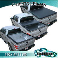8ft 96'' Long Size Truck Bed Roll-up Tonneau Cover for  04-08 Ford F150