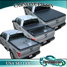 8ft 96'' Long Truck Bed Roll-up Tonneau Cover for 09-15 Dodge Ram1500 2500 3500