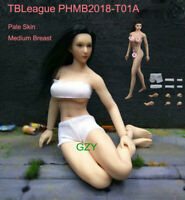 "Phicen 1/12 Female Body Pale Figure Model Toy 6"" TBLeague PHMB2018-T01A Doll"