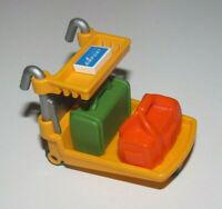 Playmobil Accessoire Décor Lot Chariot Aéroport + Valise + Bagage + Ticket Avion