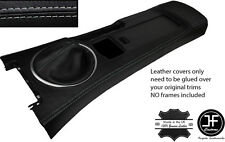 GREY STITCH CONSOLE & GAITER LEATHER COVERS FITS MAZDA MX5 MK3 05-14 STYLE 2
