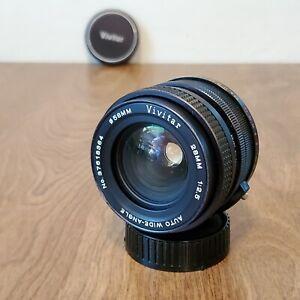 Vivitar 28mm f2.5 Auto Wide-Angle Lens 28mm  1:2.5 Black for Minolta
