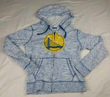 New Era Men's Sz M Golden State Warriors Full Zip Hoodie White Blue Steph Curry