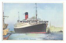 LS1018 - Cunard Liner - Carinthia , artist James Mann - postcard