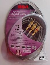 *NEW* RCA High Performance Digital Audio/Video Cable 12' DT12AV 24K Gold-plated