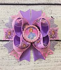 Princess Sofia The First Stacked Boutique Hair Bow Handmade