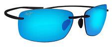 Maui Jim B724-02 Kumu Gloss Black Frame Blue Hawaii Polarized Lens Sunglasses