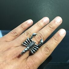 Ring Scorpion Maha Sanae Amulet Love Luck Rich Charm Protected Size 10 Vol. 30