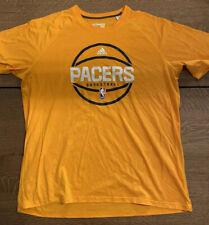 Adidas NBA INDIANA PACERS T-shirt, Gold, men's 2X. Free Shipping!