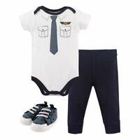 Little Treasure Bodysuit, Pant and Shoes, 3-Piece Set, Pilot