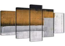 PANNELLO 5 Arancione Grigio Pittura Astratta Tela Camera da letto Decor - 5426 - 160 cm