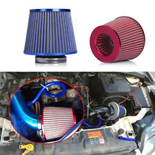 2pcs Durable High Flow Auto Car Mushroom Head Intake Cold Air Filter Blue+ Red