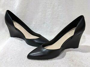 Nine West Women's CIARRA Black Wedge Pumps Shoes - Size 8.5 NWB