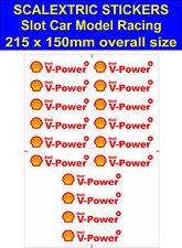 Slot Car Scalextric Pegatinas Modelo carrera Shell V-Power Logo 3 Lego Ferrari Calcomanía