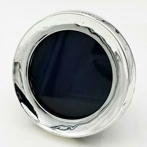 EDWARDIAN STERLING SILVER ROUND PHOTO FRAME Chester 1905 Saunders & Shepherd