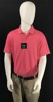 Mens PGA Tour Airflux Polo Golf Shirt Short Sleeve Neon Pink Lemonade