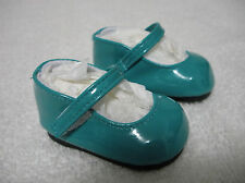 """Fits 16"""" Sasha Gregor Doll - Dark Teal Patent Leather Mary Janes - Shoes - D1416"""