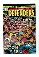 Defenders #20, FN- 5.5, Dr. Strange, Thing, Valkyrie