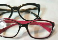 New 1.50 2 Pairs Betsey Johnson Reading Glasses Pink & Black Readers