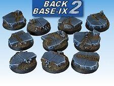 25mm Resin Scenic Bases (10) Round Ruins Warhammer 40k