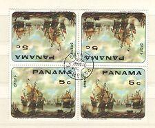 Q7995 - PANAMA 1968 - QUARTINA USATA PITTURA VELIERI - VEDI FOTO